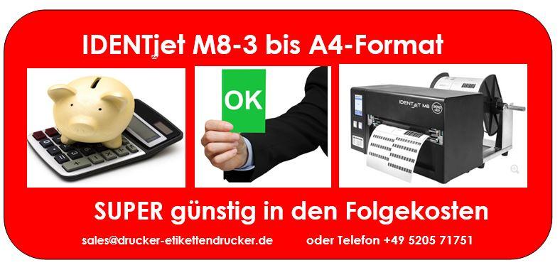 IDENTjet® M8-3 Thermodirekt- und Thermotransfer-Drucker