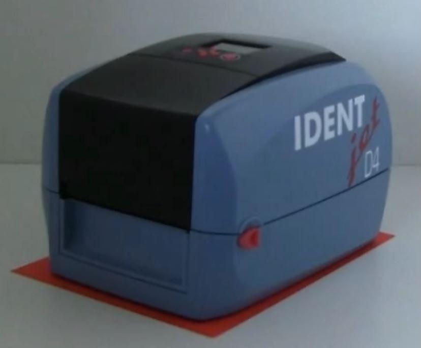 IDENTjet D4 ist kleiner als eine A4-Seite
