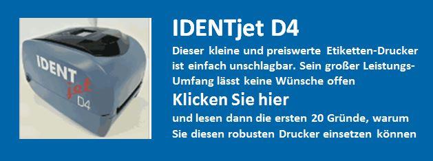 IDENTjet D4, die für diesen Drucker sprechen
