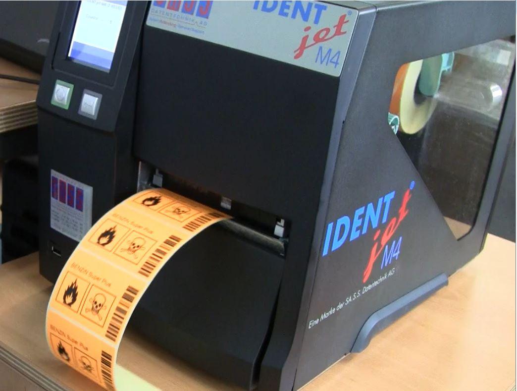 Schlaufen-Etiketten bedrucken mit einem Profi-Drucker
