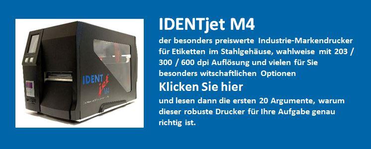 IDENTjet M4 20 Argumente für diesen Drucker
