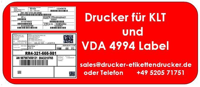 KLT und VDA-Label-Drucker