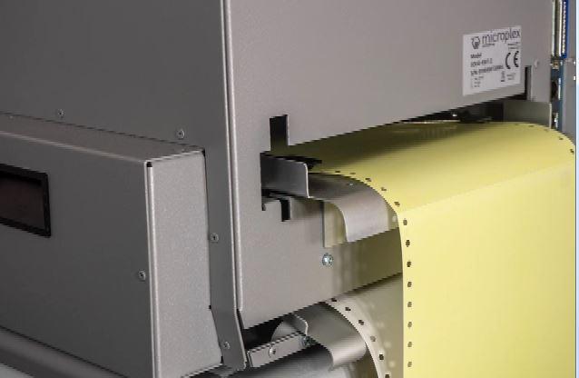 Krankenhaus-Essenleitkarten-Drucker arbeiten im Wechsel mit 2 Papierzuführungen