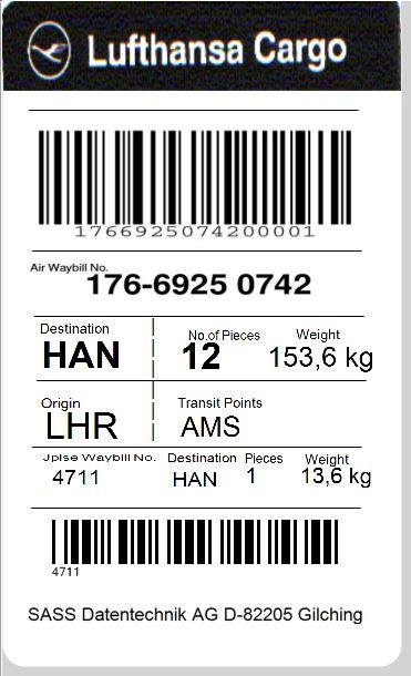 IATA-Transportetiketten