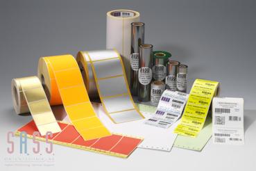 Etiketten und Thermotransferfolie