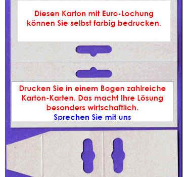 Dünner Karton in Schwarz-weiß oder Farbe bedrucken