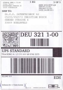 IDENTjet D4 für UPS-Etiketten