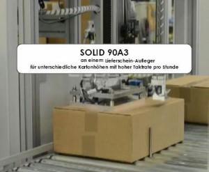 MICROPLEX SOLID90A3 am Beleg-Aufleger