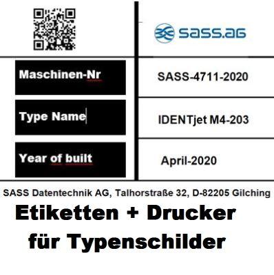 Maschinenaufkleber /Inventarschilder+ Drucker, Etiketten und Druckfolien. Alles muss zu einander passen