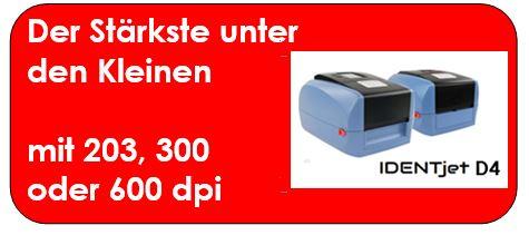 IDENTjet D4 als mobiler Lieferscheindrucker