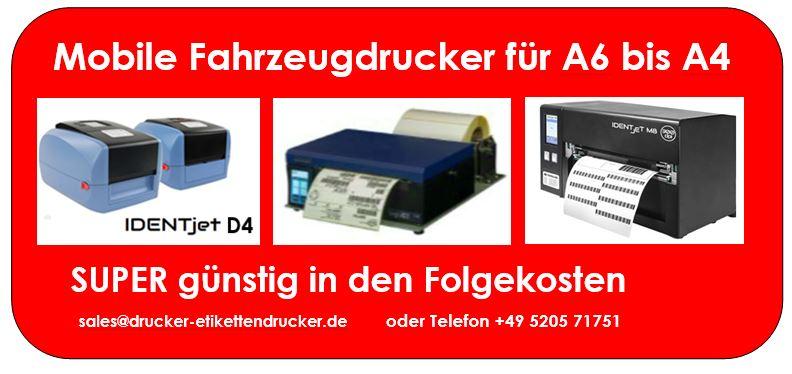 Mobile Lieferscheindrucker (von A6 - A4-Formate) für unterwegs