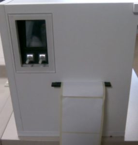 Nassraum-Druckerschrank mit Heizung für den Etikettendruck