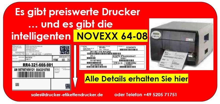 NOVEXX 64-08 Etikettendrucker für A4-breite Etiketten