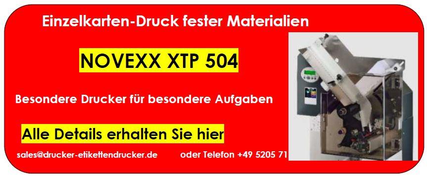 NOVEXX XTP 804 führt das Material gerade unter dem Druckkopf her