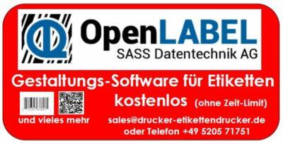 OpenLABEL jetzt die kostenlose Etiketten-Design-Software nutzen