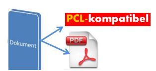 IDENTjet DT-8 sind PCL- und PDF-kompatibel