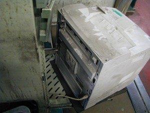 POS-Drucker im Schmutz