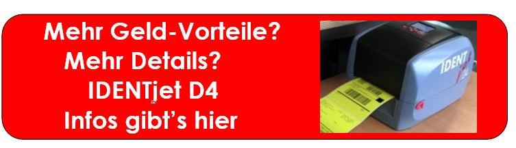 IDENTjet ® D4 drucken Ihre Paket-Etiketten
