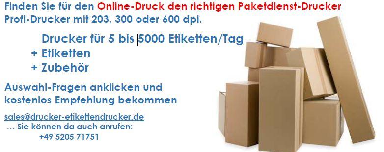 Paket-Etiketten für DHL, DPD, UPS, TNT, GLS und andere