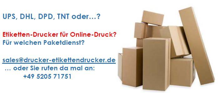 Paket-Etiketten online drucken