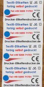 Polyester-Satin-Etiketten farbig drucken