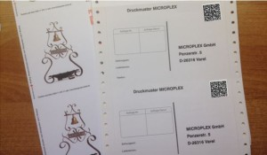 Postkarten drucken Endlosdruck per Thermodrucker oder Laserdrucker