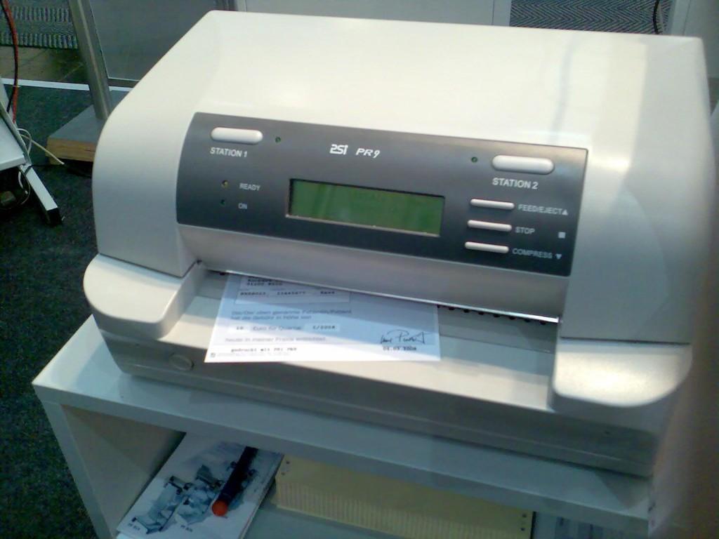 Kopfmatrixdrucker mit Einzelblatt-Einzug