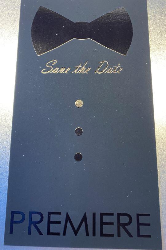 rucker für Verpackung mit Lackdruck auf schwarzem Untergrund