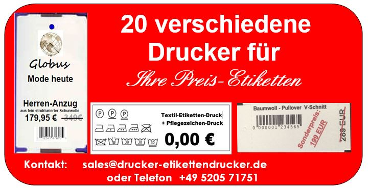 Preisetiketten - Drucker in großer Auswahl