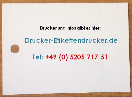 Preiskarten Drucker für Binde-Etiketten für Ihr Hochregallager