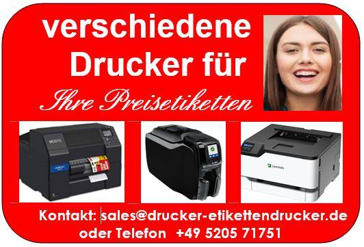 Preisetiketten mitTintenstrahl-Drucker