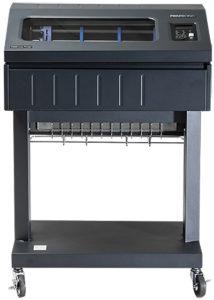 Printronix P8P05 Standfuss-Drucker drucken für ca. 0,1 je 12-Zoll-Seite (ca. A4-Seite)