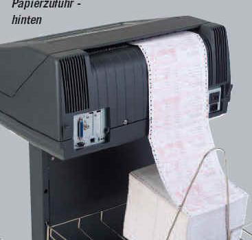 P8005 Zeilendrucker auf dem Standfuß