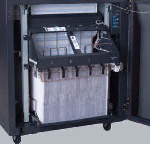Printronix P7215 mit Shure-Stacker