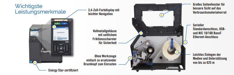 Printronix T8304 sind auch als Thermodirekt-Drucker einsetzbar