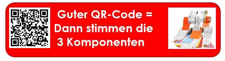 QR-Code mit passenden Komponenten drucken