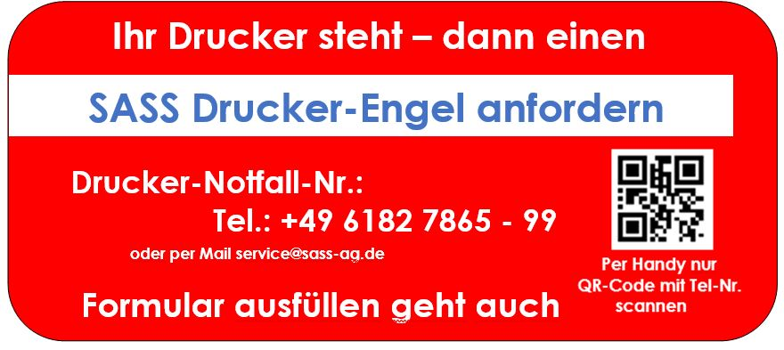 SASS-Drucker-Engel anfordern