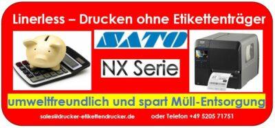 SATO-CL4NX PLUS drucken umweltfreundlich Linerless-Etiketten