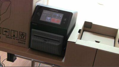 SATO CT4-LX Etikettendrucker mit geringen Platzbedarf