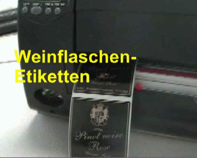SK-Etiketten für Weinflaschen