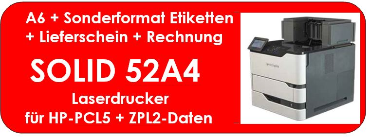 Logistik-Dokumente mit SOLID 52A4 drucken