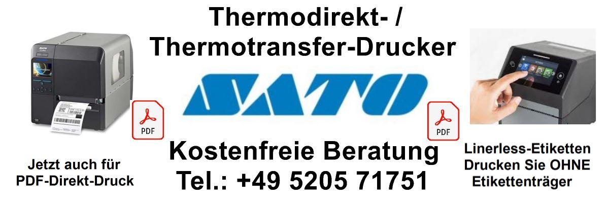 Spedition-Etiketten per PDF-Direktdruck oder Druck ohne Etikettenträger.