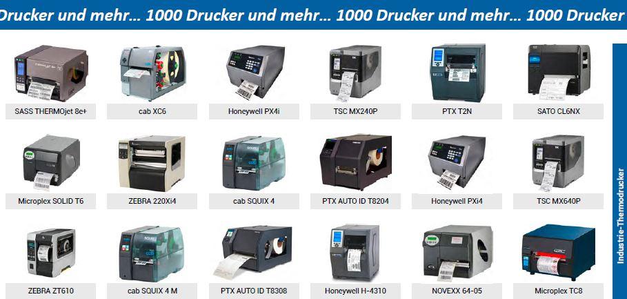 1000 verschiedene Drucker gibt es beim Spezialisten