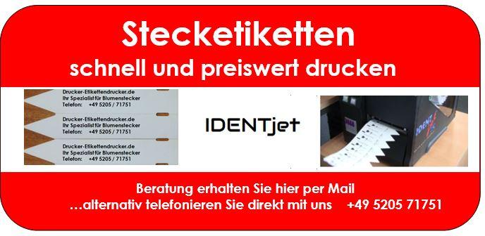 Stecketiketten-Drucker für Baumschulen und Pflanzenzucht-Betriebe