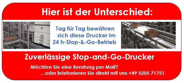 Stop-and-Go-Laserdrucker