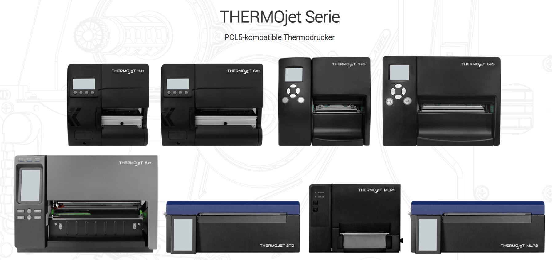 SASS THERMOjet sind Thermodrucker zur Ablösung vonLaserdrucker-Anwendungen