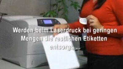 Entsorgung restliche Etiketten beim Laserdruck