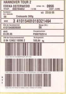 Obst und Gemüse auszeichnen / etikettieren mit einem Profi-Drucke für SSCC-Label
