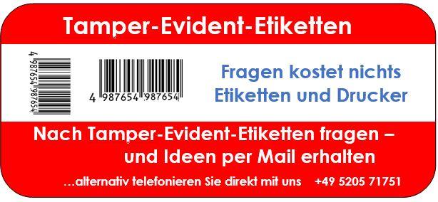 Tamper-Evident-Etiketten Perfekte Drucker um beste Etiketten zu drucken
