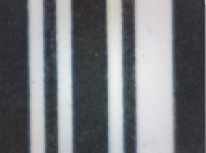 Terminal-Drucker drucken große, breite Barcodes